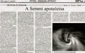 semmi-apoteozisa